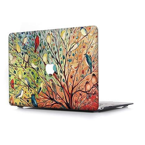 RQTX Funda MacBook Air 13,3 Pulgadas portátiles Accesorios de plástico Protector Rígida Carcasa para Apple MacBook Modelo A1466/A1369,Aves