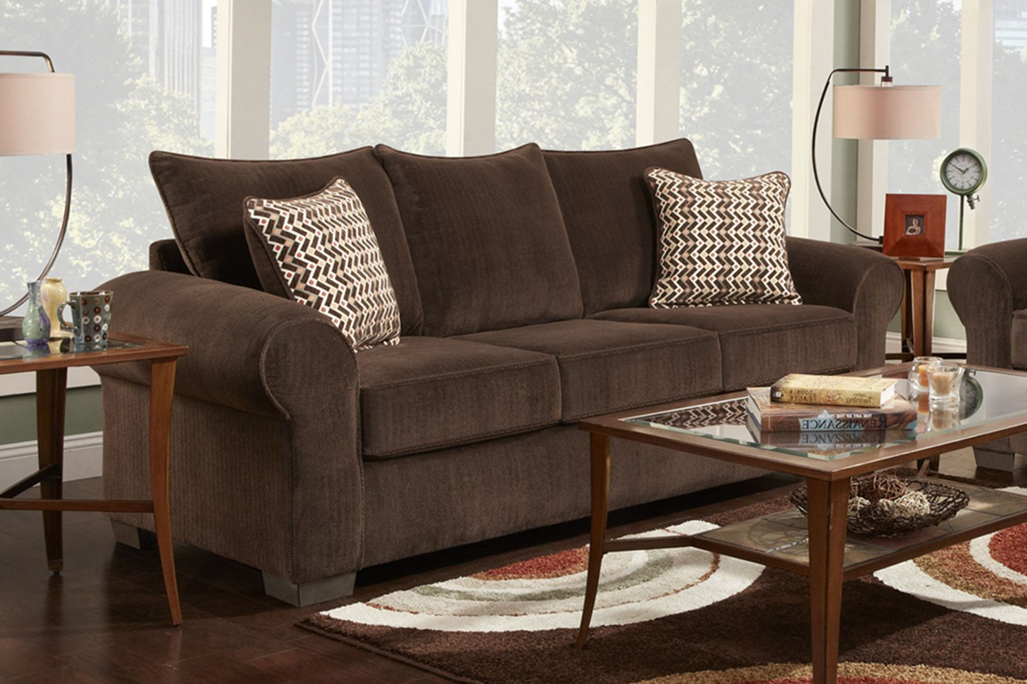 Pleasant Amazon Com Chelsea Home Queen Sleeper Sofa In Brown Inzonedesignstudio Interior Chair Design Inzonedesignstudiocom