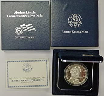 MINT Box /& COA U.S 2009-ABRAHAM LINCOLN COMMEMORATIVE PROOF SILVER DOLLAR