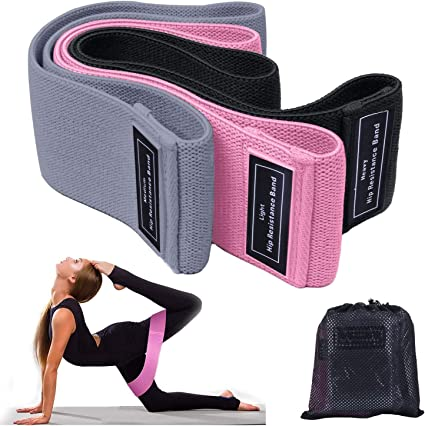 Squat Booty Bands for Working Out Workout Fabric Non-Slip Gym Equipment Set for Women//Men Exercise Resistance Bands for Legs and Butt 3 Pack Hip Thigh Glute Stretch Fitness Loops