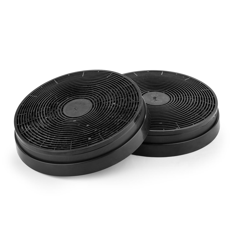 Klarstein Filtro de carbón Activado para Campanas extractoras Pieza de Recambio 2 filtros Ø17,5 cm: Amazon.es: Grandes electrodomésticos