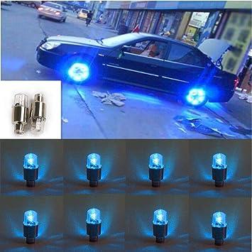 4x Universal Colorful LED Car Wheel Tyre Tire Air Valve Stem Cap Light Lamp Bulb