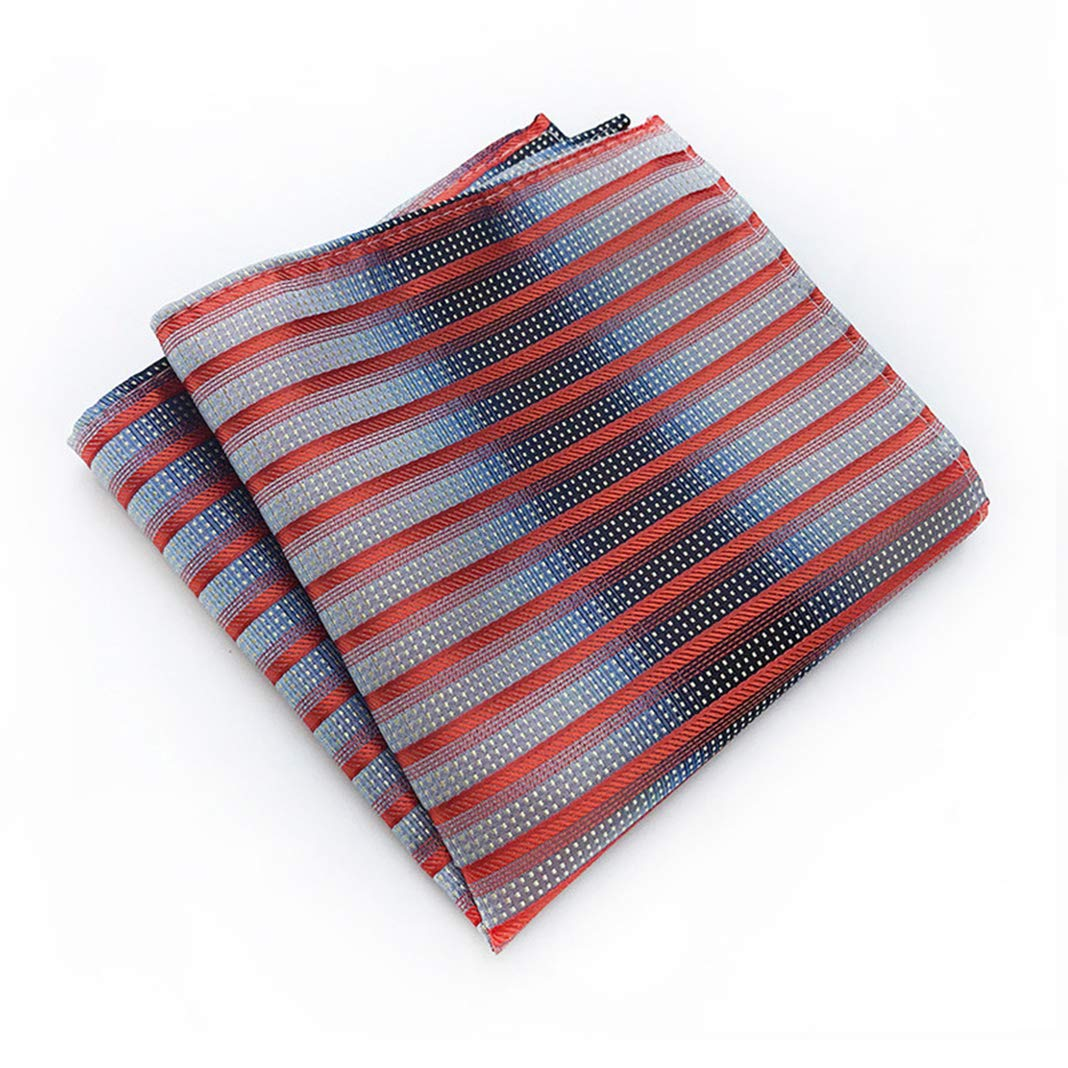 L04BABY Mens Dinosaur Pattern Set Skinny Necktie with Pocket Square Tie Set