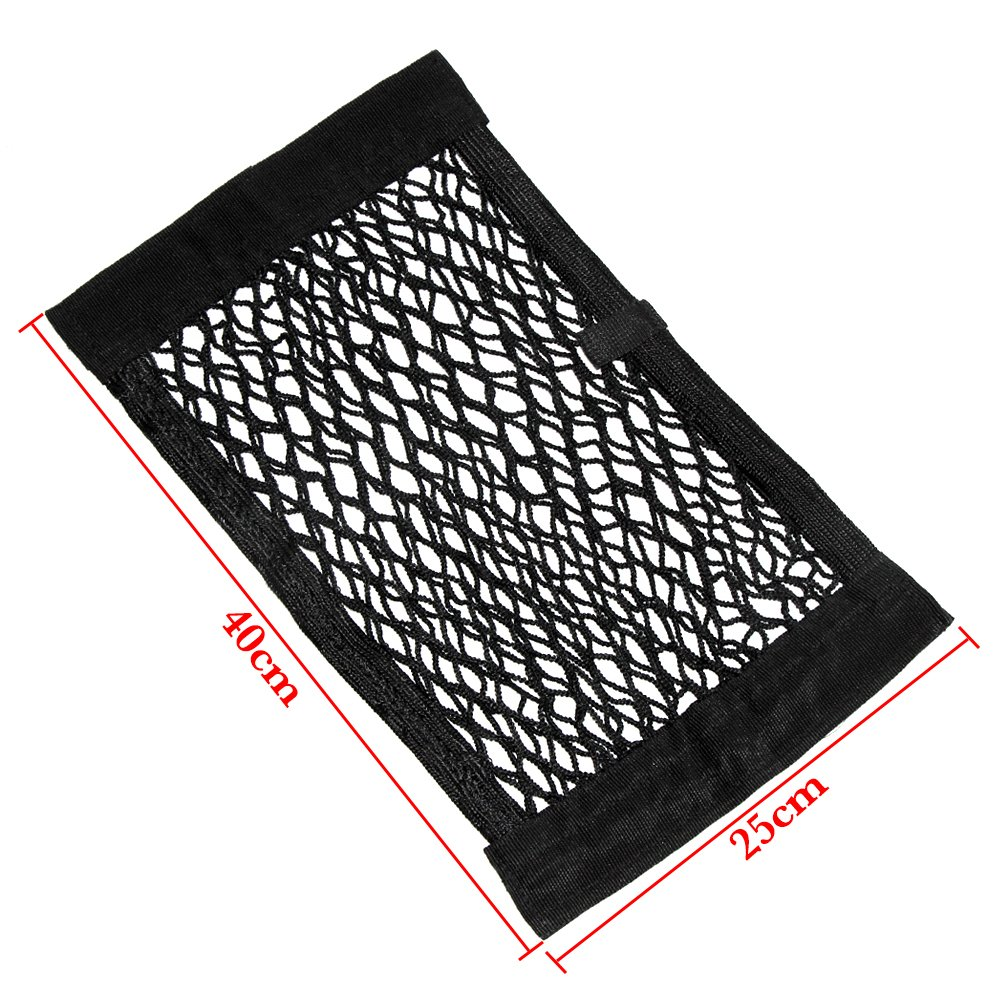 Magic Sticker Cargo Net Mesh Organizer from 9 MOON 2 Pack of Universal Adhesive Cargo Nets