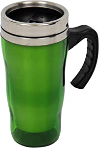 Thermos Coffee Mug with Handle – Stainless Steel Mug with Plastic Outside – Thermal Insulated Travel Cup To Go – Reusable Thermos Cups For Hot And Cold Drinks – Available in 4 Colors
