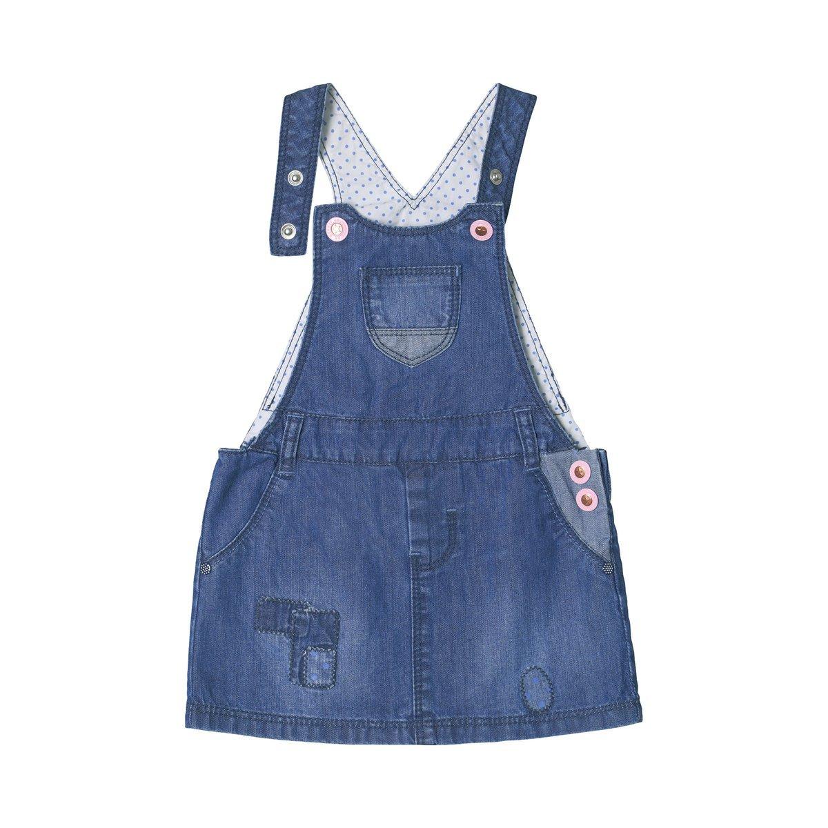 ESPRIT Jeans-Latzkleid