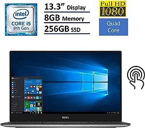 "Dell XPS 13 9360 Laptop - 13.3"" Anti-Glare InfinityEdge Touchscreen FHD (1920x1080), Intel Quad-Core i5-8250U, 256GB NVME PCIe M.2 SSD, 8GB RAM, Backlit Keyboard, Windows 10 (Rose Gold)"