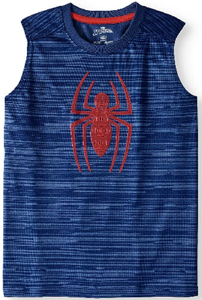 Fashion Boys Spider-Man Blue Muscle Tank (Small 6/7)