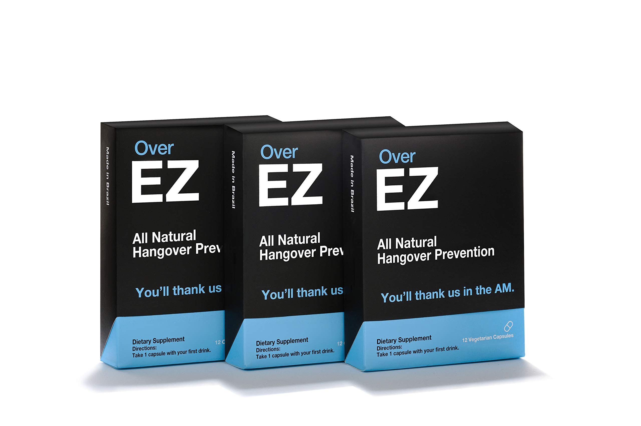 Over EZ Hangover Cure and Hangover Prevention with Milk Thistle, Anti Hangover Pill, Liver Detox with Amino Acids, Vitamin B6 and B12, Hangover Pill with 1000 milligrams (36)