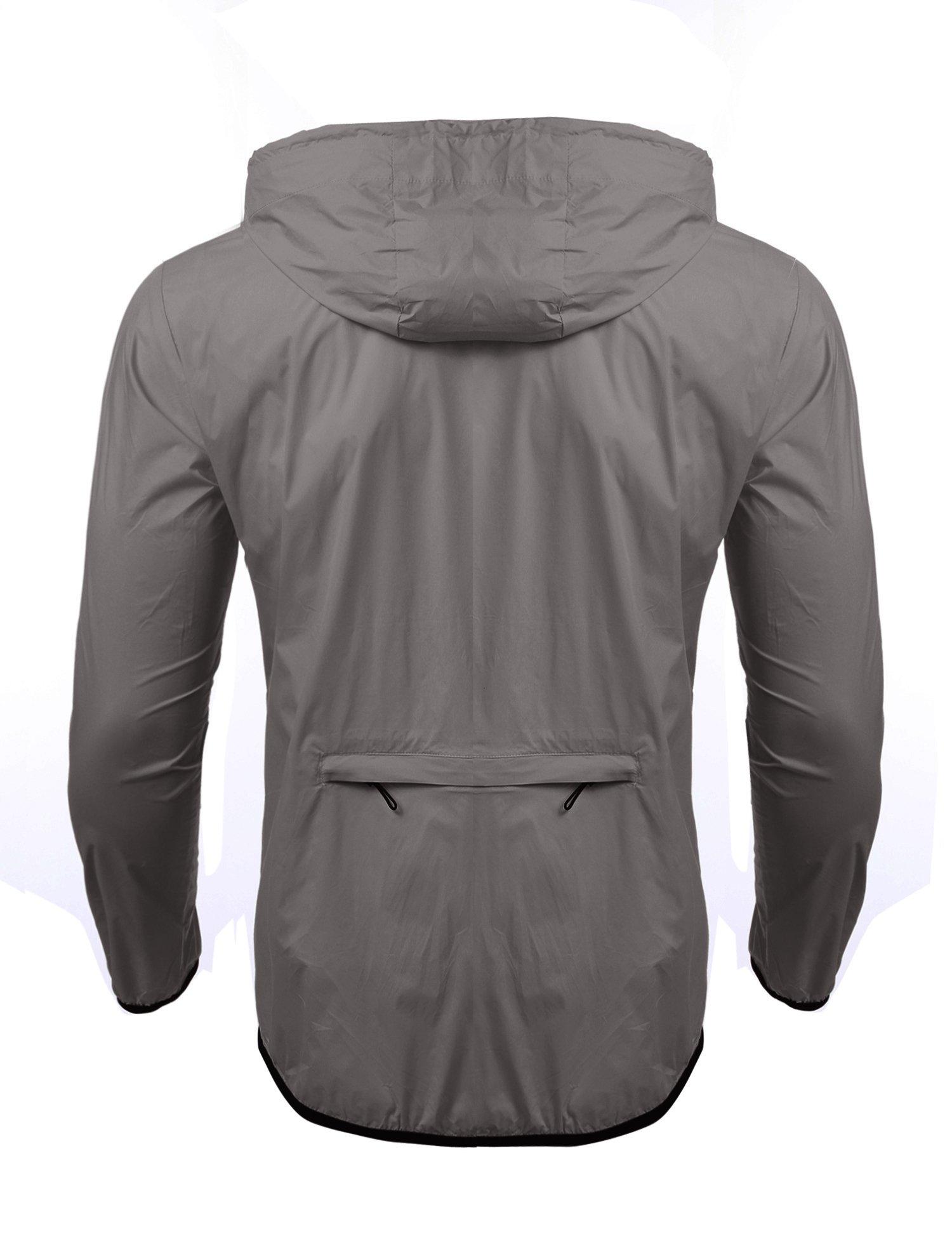 Jinidu Men's Cycling Skin Coat Jersey Bicycle Windproof Jacket Rain Coat (Medium, Light Khaki) by Jinidu (Image #4)