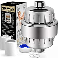 OHFULLS 15 Stage Shower Filter with Vitamin C for Hard Water - High Output Shower Water Filter to Remove Chlorine and…