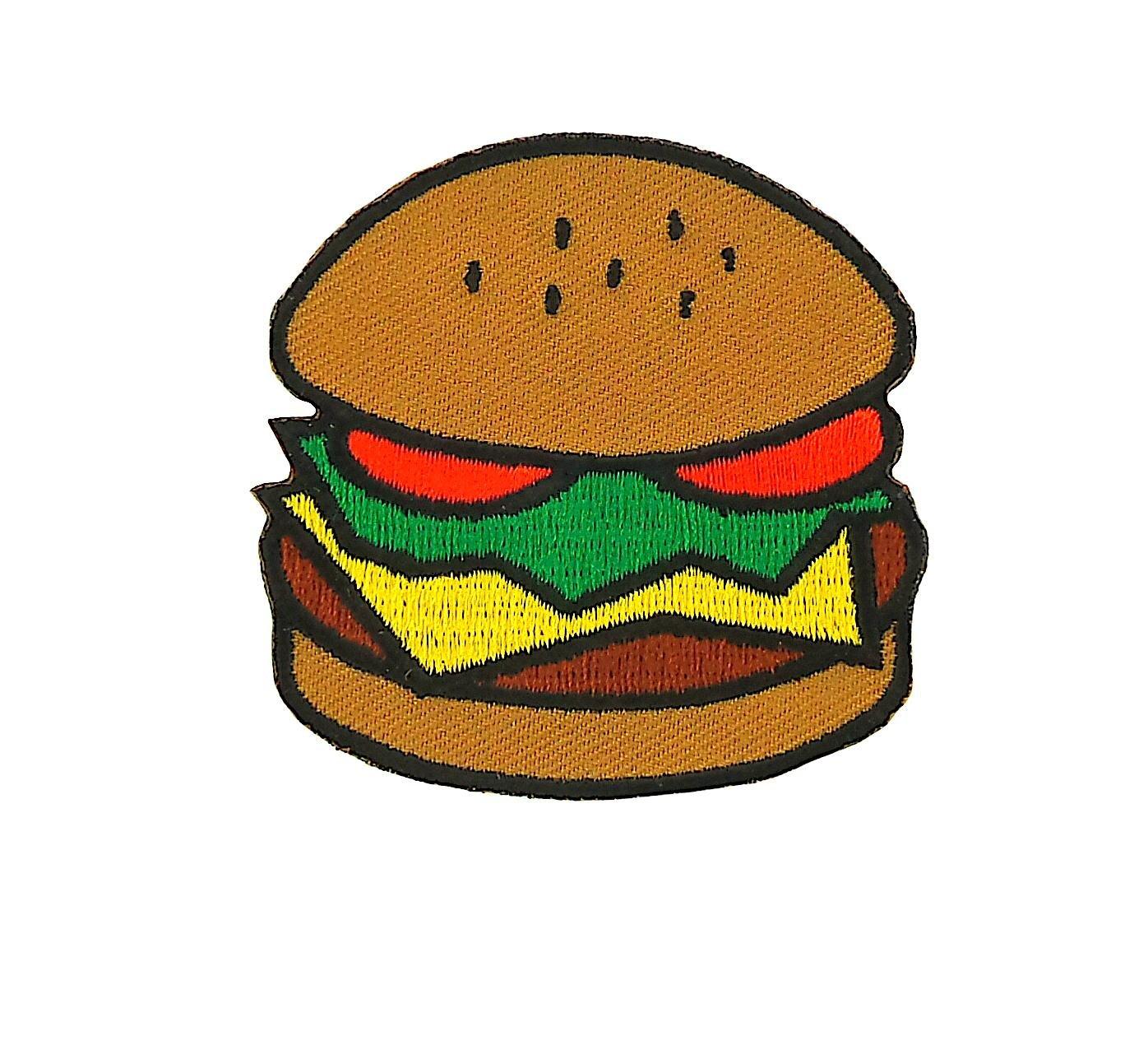 patch ecusson brode applique backpack blouson doudoune couture kawaii hamburger