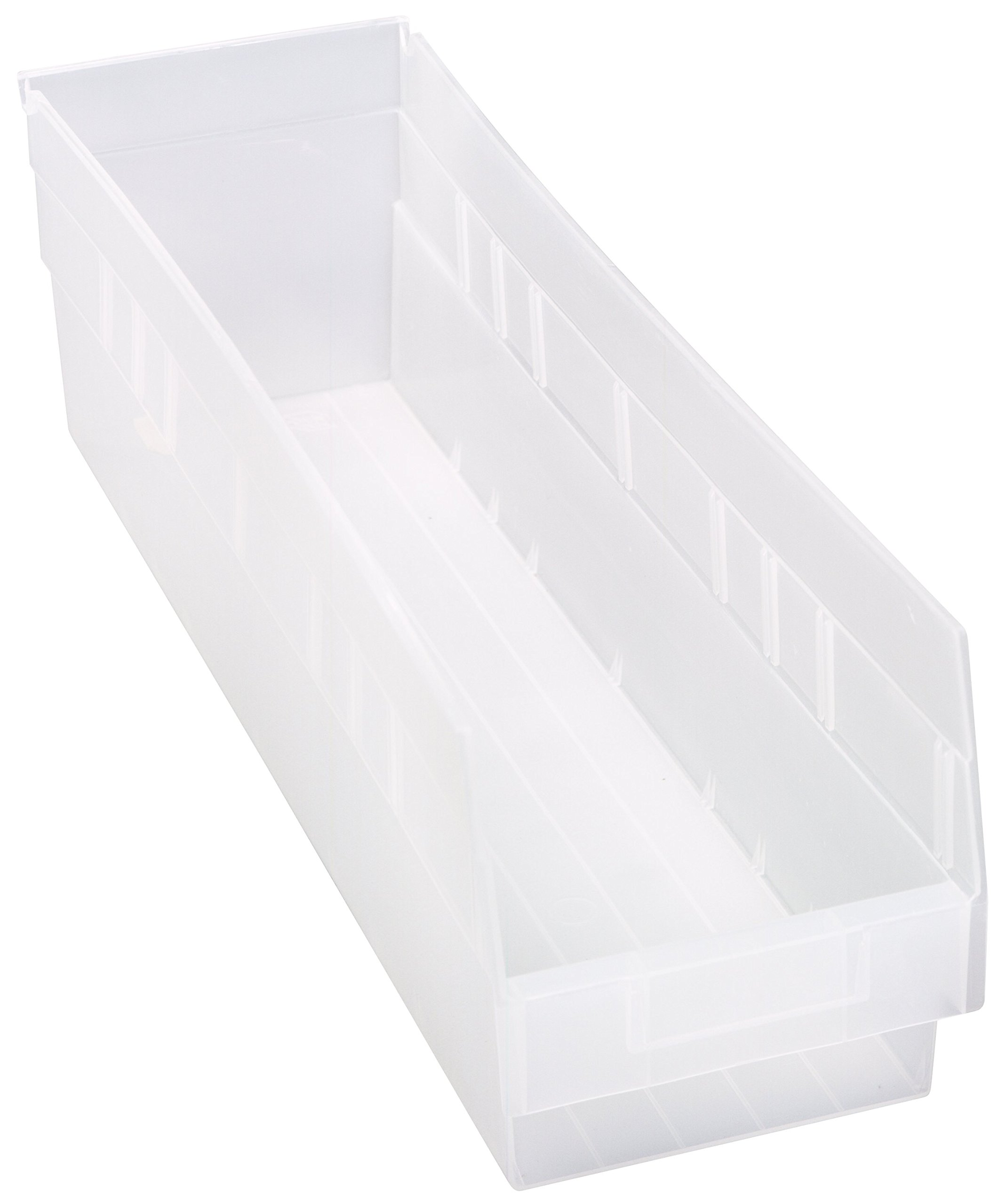 Quantum QSB206CL Store More Shelf Bin, 23-5/8'' Length x 6-5/8'' Width x 6'' Height, Clear, Pack of 8 by Quantum