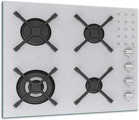 QTA - Placa protectora de vitrocerámica 60 x 52 cm 1 pieza cocina eléctrica universal para inducción protección contra salpicaduras tabla de cortar de ...