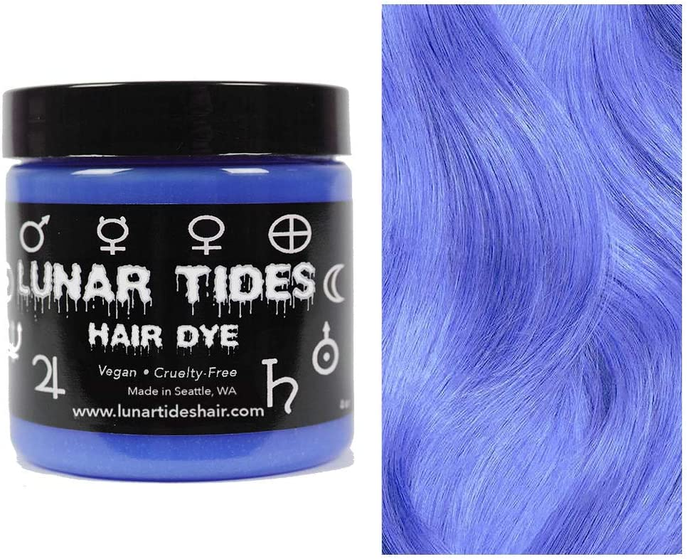 Moon Stone, tinte semi permanente para el cabello azul - 118 ml - Lunar Tides