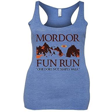 17d2fcd26d6 Amazon.com: Mordor Fun Run Funny Tri-Blend Tank Top: Clothing