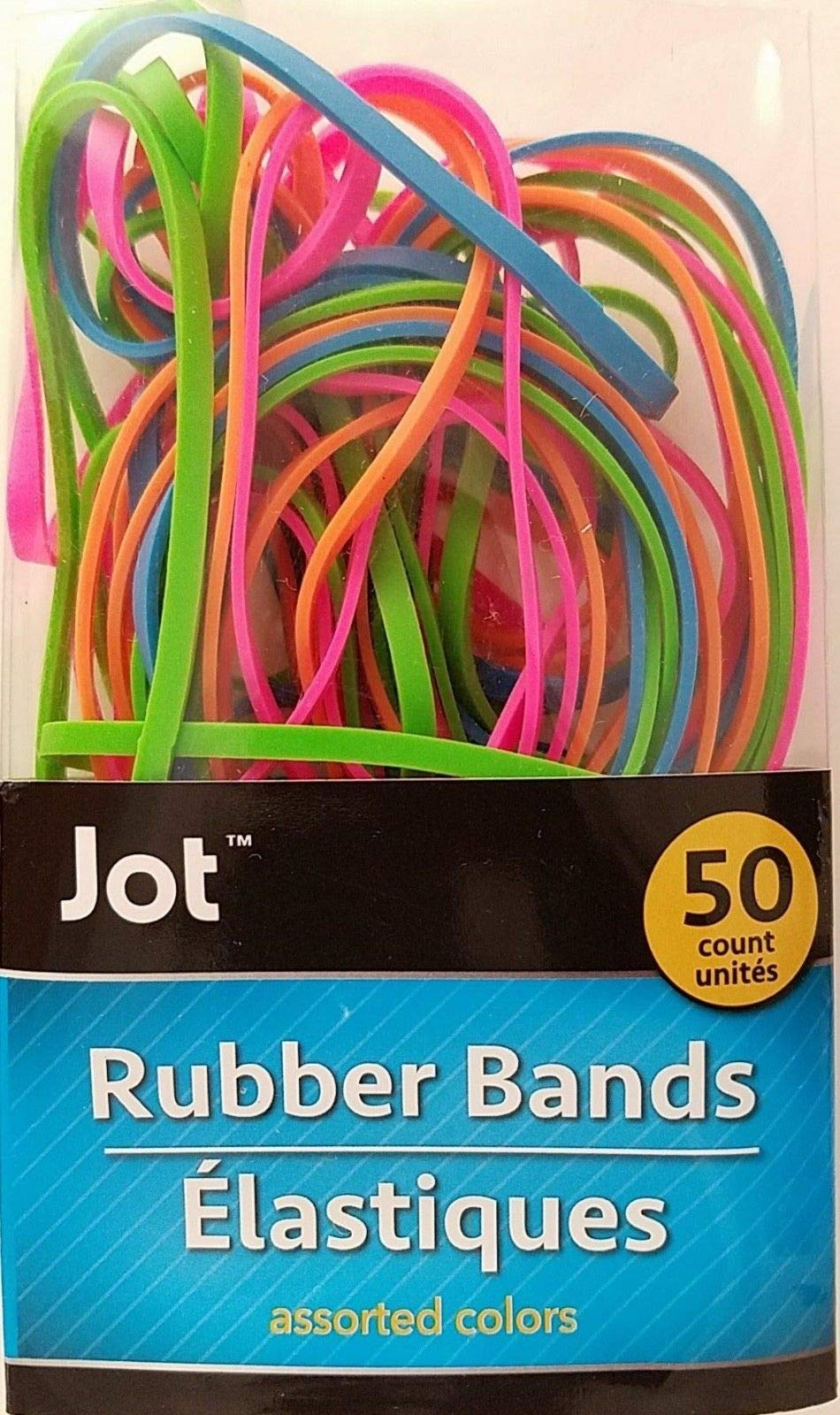 Rubber Bands Multi-Color NEON Size 18 (3 Inch/76 mm) 50/Pack