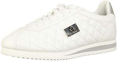 6e5d847b2c542 G by GUESS Women's Romio Metallic Quilted Sneakers