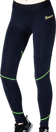 ROSSO Mallas largas para Mujeres repunte Verde Leggins Cintura ...