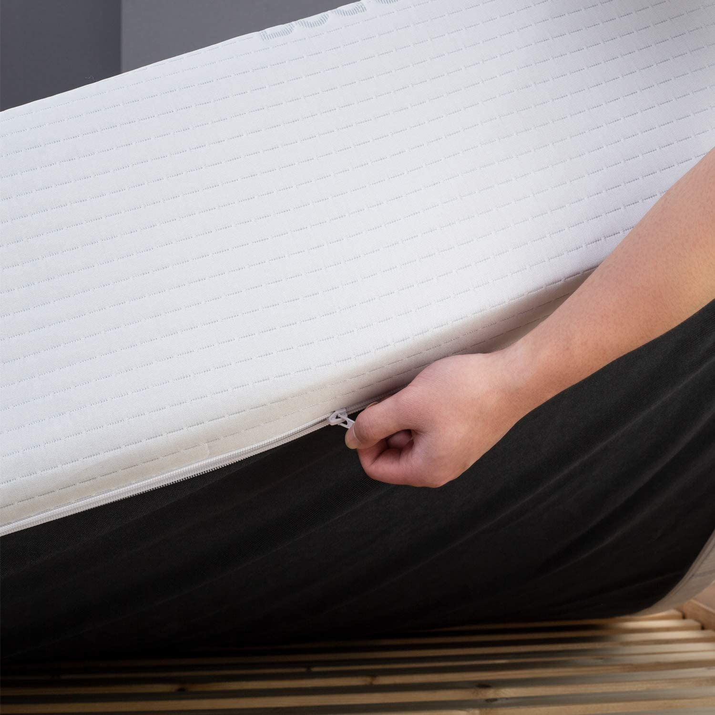Latex Am/éliore Sommeil et Antiacarien Matelas Une Personne Mousse Multiple Couches Ind/épedantes avec Tissu Respirant et Hypoallerg/énique Certification ISO 9001 BedStory Matelas Latex 90x190x18cm