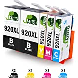 JARBO Replacement for HP 920 XL Ink Cartridges High Capacity Compatible with HP Officejet 6000 6500 7000 7500 Printer (2 Black,1 Cyan,1 Magenta,1 Yellow)