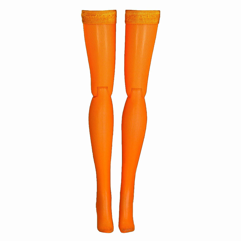 Sybarite Orange Doll Stockings for 15-16 Fashion Dolls Gene Ellowyne Tyler Popovy Poppy Parker Fashion Royalty Vita Jamie Show Princess Diana