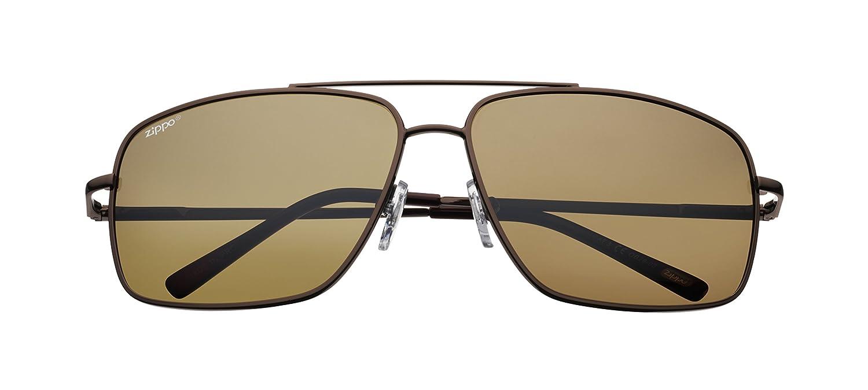 Zippo Polarized Brown Flash Mirror Lens Gafas de Sol, Unisex ...