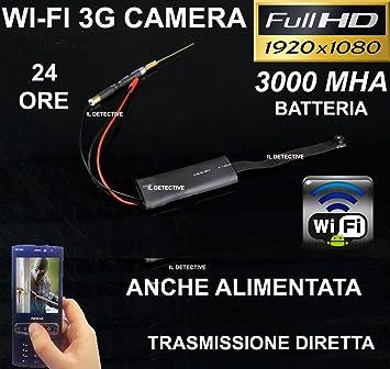 Cámara Espía WIFI Micro oculta infrarrojos p2p wifi transmisión Video espía: Amazon.es: Electrónica