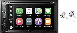 "Pioneer Multimedia Double-Din In-Dash 6.2"" WVGA Display DVD Receiver Apple CarPlay/Built-in Bluetooth/SiriusXM-Ready/AppRadio Mode/ Spotify & Pandora"