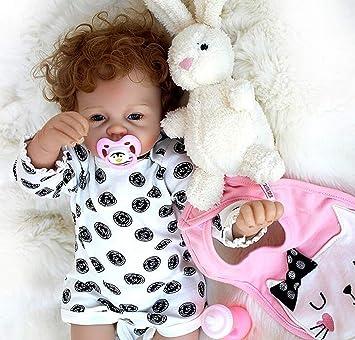 Amazon.es: OUBL 22pulgadas 55 cm Magnetismo Baby Doll niña Juguetes ...
