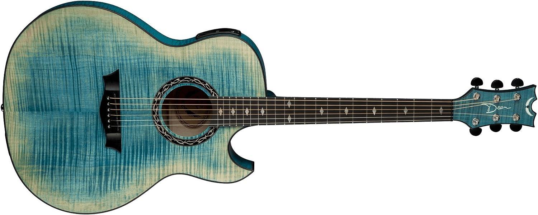 Dean Guitars EX FM FD Exposición de arce flameado-acústica de la ...