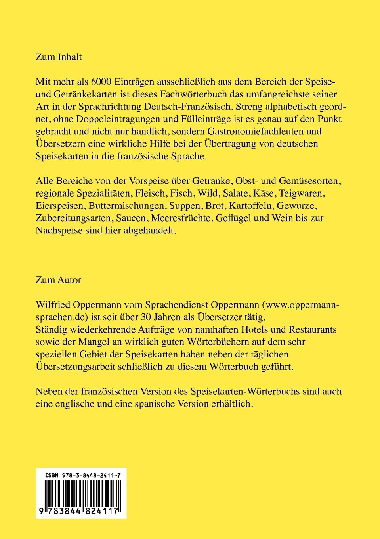 Speisekarten-Worterbuch - Edition Professionnelle (German Edition ...