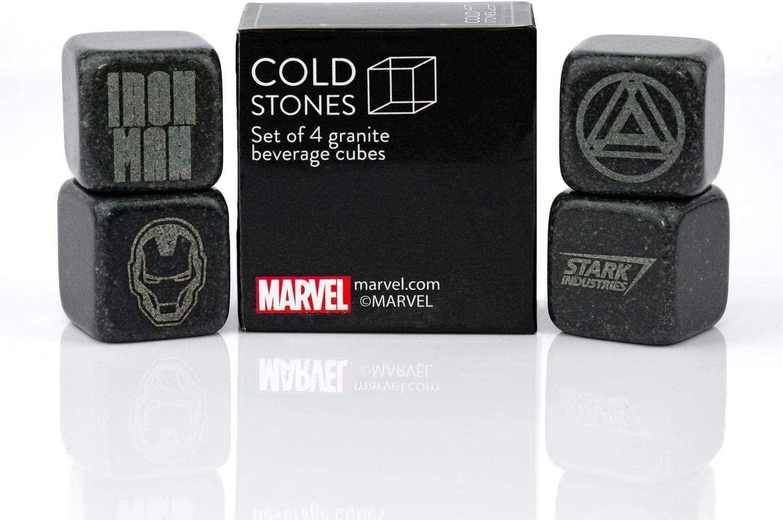Iron Man Collectible   Marvel Cold Stones Set   Iron Man Granite Beverage Cubes