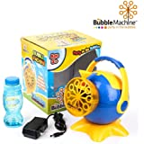 My Bubble Machine - Battery Operated Bubble Blower Maker for Indoor Outdoor Party with AC Adapter