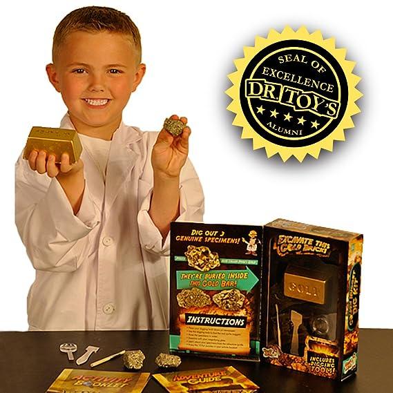 DRCOOL Kit de excavación de oro Nugget, 3 especias de pirita.: Amazon.es: Juguetes y juegos