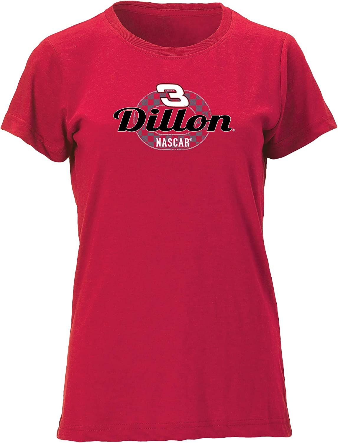X-Large NASCAR Richard Childress Racing Austin Dillon Womens W Vintage Blend Relaxed Fit S//S TW Vintage Blend Relaxed Fit S//S T Vintage Red