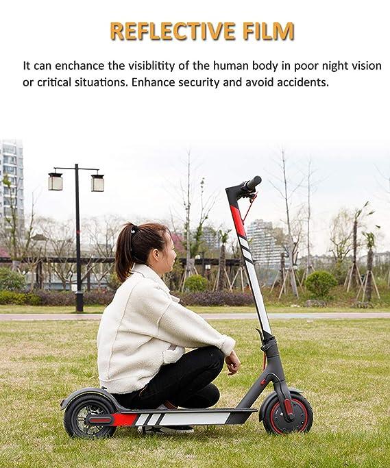 chuancheng Pegatina de película Reflectante Fluorescente para Xiaomi Mijia M365 M187 Scooter eléctrico de Noche Montura Pedal Pegatinas Accesorios