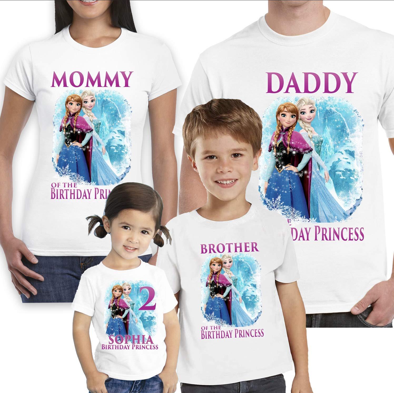 Amazon Frozen Birthday ShirtCustom Shirtpersonalized Custom Shirt Family Shirtbirthday Shirtkids Handmade