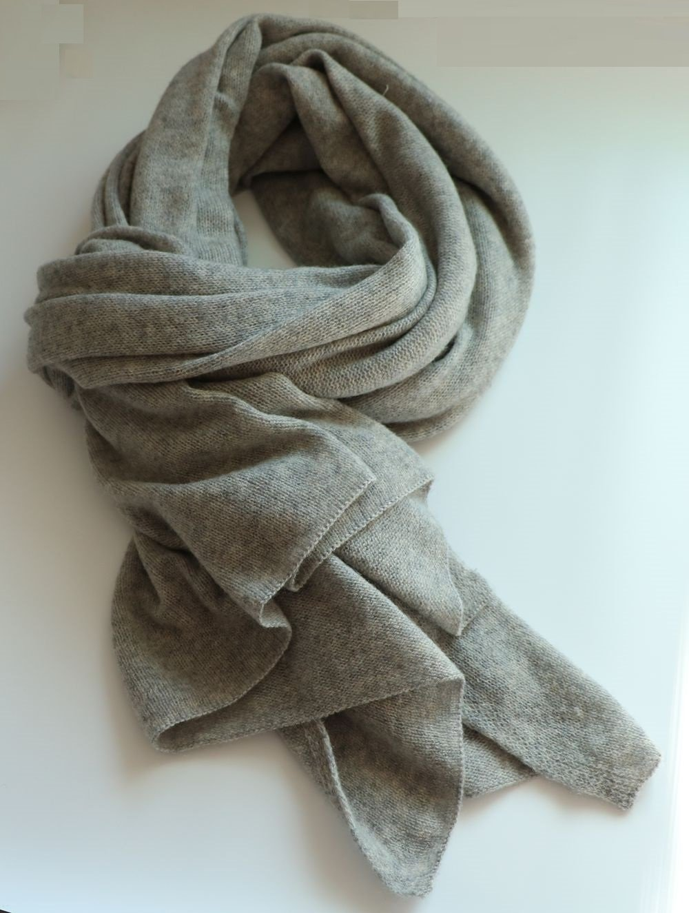 Simplife Women Men 100% Tibetan Yak scarf smoky gray 39.4'' x 78.8'' (smokey gray)