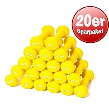 OLIVER neopreno mancuernas Bundle 20 piezas, 0,5 kg 1 kg Entrenamiento de la Fuerza mancuernas neopreno Pesas Gimnasia Pesas, a 20 x 0.5 kg: Amazon.es: ...