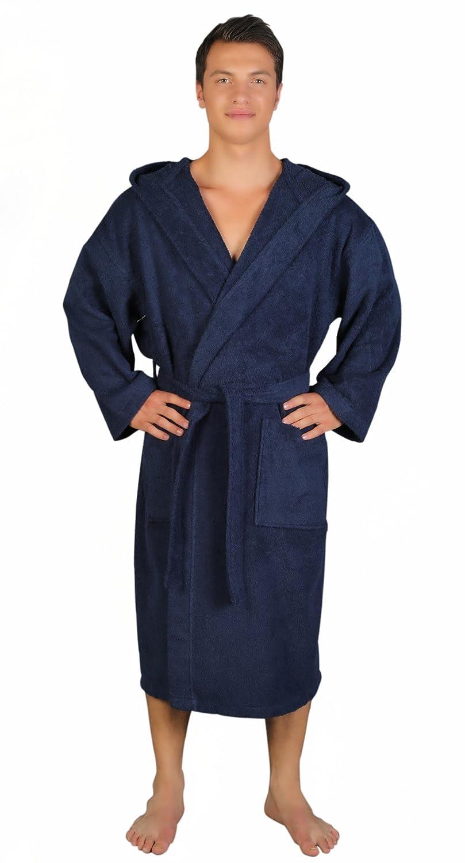 Arus Men s Classic Hooded Bathrobe Turkish Cotton Terry Cloth Robe   Amazon.ca  Clothing   Accessories 9a6b607de