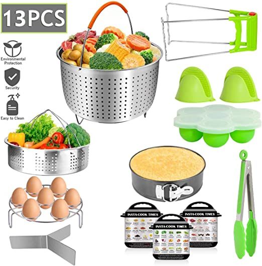 Pressure Cooker Accessories Set Compatible with 5 6 8 Qt Instant Pot Cooker