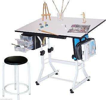 a1-tavolo da disegno e sgabello regolabile per disegno tecnico ... - Tavolo Da Disegno Per Bambini