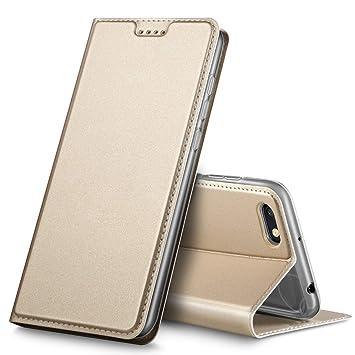Geemai Xiaomi Redmi 6A Funda, Slim Case Protectora PU Funda Multi-¨¢ngulo a Prueba de Golpes y Polvo a Prueba de Silicona con Soporte Plegable para ...