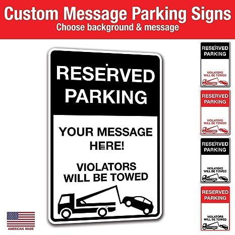 Amazon.com: Letrero metálico de remolque de estacionamiento ...