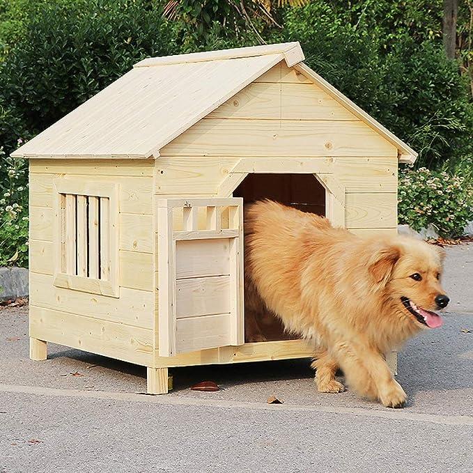 MOM Suministros para Mascotas Perreras Casa de Madera para Gatos ...