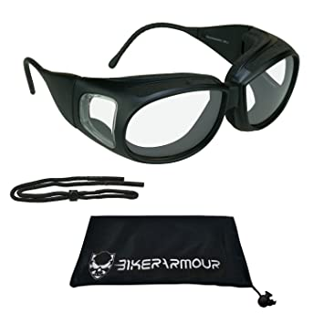Amazon Com Ansi Z87 Foam Padded Motorcycle Fitover Glasses Over
