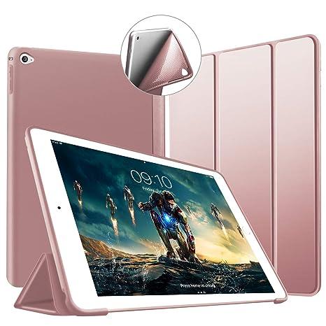 Funda iPad Mini 4, VAGHVEO Slim Fit Ligera Carcasa con Stand Función Smart Cover [Auto-Sueño/Estela] Protectora Cubierta de TPU Suave Case para Apple ...