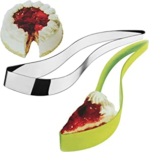 2 Packs Stainless Steel Cake Slicer and Premium ABS Green Cake Slicer, Cake Pie and Pastry Cutter Cake Server Cutter Slicer Bread Pizza Divider Tools Accessories for Party
