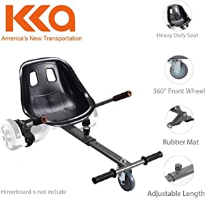 """Hoverboard Seat Attachment, Go Kart, Hoverboard Go Cart Accessories, Heavy Duty Frame, Fun for Kids Fits 6.5""""/8""""/10"""", Go Kart Conversion Kit For Hoverboard"""